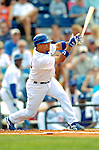 19 March 2006: Rafael Furcal, shortstop for the Los Angeles Dodgers, at bat during a Spring Training game against the Washington Nationals at Holeman Stadium, in Vero Beach, Florida. The Dodgers defeated the Nationals 9-1 in Grapefruit League play...Mandatory Photo Credit: Ed Wolfstein Photo..