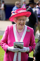 The Queen in The Royal Enclosure at The Epsom Derby - June 2011