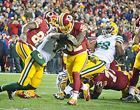 Washington Redskins running back Rob Kelley (32) scores his team's second touchdown late in the second quarter against the Green Bay Packers at FedEx Field in Landover, Maryland on Sunday, November 20, 2016.<br /> Credit: Ron Sachs / CNP /MediaPunch