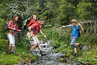 Pfunds, Tiroler Oberland, Austria, August 2009. A family hikes from the Radurschltal Valley to the Hohenzollernhaus hut. Photo by Frits Meyst/Adventure4ever.com