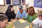 Naomi Mendenhall, Rosita McManus & Emma Cook From Pacific Elementary School Working On Signs For Beach Clean Up