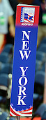 Sign marking the location of the New York delegation on the floor of the 2012 Republican National Convention prior to the start of proceedings in Tampa Bay, Florida on Monday, August 27, 2012..Credit: Ron Sachs / CNP.(RESTRICTION: NO New York or New Jersey Newspapers or newspapers within a 75 mile radius of New York City)