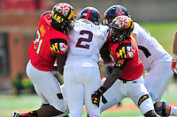 Terrapins' defense stifles Spiders' Jeremiah Hamlin. Maryland defeated Richmond 50-21 during home season opener at the Byrd Stadium in College Park, MD on Saturday, September 5, 2015.  Alan P. Santos/DC Sports Box