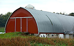A collection of Barns that still can be seen while traveling the countryside in  the beautiful State of Wisconsin.<br /> Trempealeau County- Barn on County D, east of Robinson Lane.
