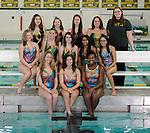 12-8-14, Huron High School synchronized swimming team