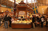 Östermalms Saluhall, Food Hall, Stockholm, Sweden. Østermalms Mathall, fra 1888.