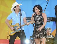 JUN 24 Brad Paisley and Demi Lovato Perform in Central Park
