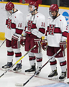 Ryan Donato (Harvard - 16), Adam Fox (Harvard - 18), Tyler Moy (Harvard - 2) - The Harvard University Crimson defeated the Air Force Academy Falcons 3-2 in the NCAA East Regional final on Saturday, March 25, 2017, at the Dunkin' Donuts Center in Providence, Rhode Island.