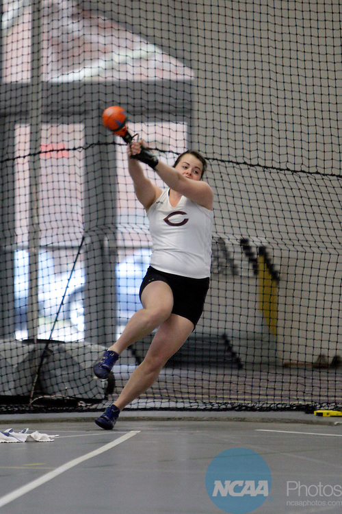 11 MAR 2011: Kristin Constantine of the University of Chicago throws during the the Division III Men's and Women's Indoor Track and Field Championships held at the Capital Center Fieldhouse on the Capital University campus in Columbus, OH.  Jay LaPrete/NCAA Photos