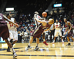 "Ole Miss' Derrick Millinghaus (3) vs. Arkansas Little Rock's Taggart Lockhart (23) at the C.M. ""Tad"" Smith Coliseum in Oxford, Miss. on Friday, November 16, 2012. Ole Miss won 92-52."