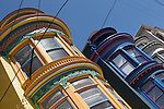 Paolo (Paul) Diego Salcido Victorian homes in San Francisco  at Mason Street or Steiner Street photographed by advertising photographer Paolo Diego Salcido.