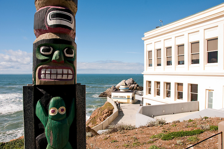 Totem Pole, Cliff House, near Golden Gate Park, San Francisco, California, USA.  Photo copyright Lee Foster.  Photo # california108313