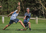 17 May 2016: The Vermont Commons School Flying Turtles Varsity Ultimate Team host the Mount Mansfield Union High School Cougars at Farrell Park in South Burlington, Vermont. The Turtles defeated the Cougars 15-5. Mandatory Credit: Ed Wolfstein Photo *** RAW (NEF) Image File Available ***