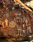 Petroglyph panel, McKee Springs, Dinosaur National Monument, Utah.