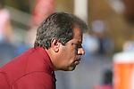 08 November 2009: FSU head coach Mark Krikorian. The University of North Carolina Tar Heels defeated the Florida State University Seminoles 3-0 at WakeMed Stadium in Cary, North Carolina in the Atlantic Coast Conference Women's Soccer Tournament Championship game.