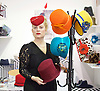 Pure London <br /> Fashion showcase at Olympia, London, Great Britain <br /> 14th February 2017 <br /> <br /> <br /> Lucille Millinery London <br /> with some Hat designs <br /> <br /> Photograph by Elliott Franks <br /> Image licensed to Elliott Franks Photography Services