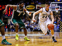 INDIANAPOLIS, IN - FEBRUARY 13: Kellen Dunham #24 of the Butler Bulldogs dribbles the ball around E. Victor Nickerson #5 of the Charlotte 49ers at Hinkle Fieldhouse on February 13, 2013 in Indianapolis, Indiana. Charlotte defeated Butler 71-67. (Photo by Michael Hickey/Getty Images) *** Local Caption *** Kellen Dunham; E. Victor Nickerson
