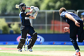17.02.2015. Dunedin, New Zealand.  Kane Williamson batting during the ICC Cricket World Cup match between New Zealand and Scotland at University Oval in Dunedin, New Zealand. Tuesday 17 February 2015.