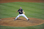 Ole Miss' R.J. Hively (27) pitches vs. LSU in Oxford, Miss. on Friday, May 4, 2012. LSU won 4-3 in 13 innings.