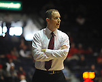 "Mississippi vs. Rutgers head coach Mike Rice at the C.M. ""Tad"" Smith Coliseum in Oxford, Miss. on Saturday, December 1, 2012. Mississippi won 80-67. (AP Photo/Oxford Eagle, Bruce Newman).."