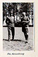 BNPS.co.uk (01202 558833)<br /> Pic: Dickins/BNPS<br /> <br /> Operation Barbarossa - Richthofen(r) with General Kesselring<br /> <br /> The unseen personal photo album of Field Marshal Wolfram von Richthofen, cousin to the legendary Red Baron, which gives an unprecedented insight into his military career in the Third Reich, has been rediscovered.<br /> <br /> Wolfram served in the Red Baron's squadron in the WW1, went on to design the 'Jericho trumpet' of the infamous Stuka Bomber between the wars, before leading the Condor Legion in the Spanish Civil War.<br /> <br /> After the outbreak of WW2 the fascinating album shows Richthofen's lead roll in Operation Barbarossa - the Nazi's suprise invasion of Communist Russia and their race to conquer the vast country before the onset of the notorious Russian winter.<br /> <br /> The two albums were taken from Berlin by a British soldier at the end of the Second World War who kept it for 60 years before it was passed into the hands of a private collector.<br /> <br /> Dickins auctions are selling the historic albums with a &pound;20,000 estimate on 31st March.