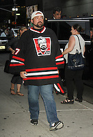 NEW YORK, NY-August 25:  Kevin Smith at the Late Show with Stephen Colbert to talk about new movie Yoga Hosers in New York. August 25, 2016. Credit:RW/MediaPunch