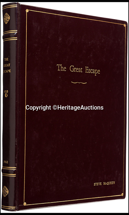 BNPS.co.uk (01202 558833)<br /> Pic: HeritageAuctions/BNPS<br /> <br /> The script belonging to actor Steve McQueen for The Great Escape which is covered in his suggestions for scenes and his character has sold for ten times its estimate.<br /> <br /> McQueen's personal script for the classic 1963 war film was estimated to fetch &pound;4,000 at auction but sold for a whopping &pound;40,325 ($50,000).<br /> <br /> It was one of 18 McQueen scripts being sold by a collector who knew McQueen at Heritage Auctions in America. The whole collection had an estimate of &pound;50,000 but smashed the expected price, making a total of &pound;203,343 ($252,125).