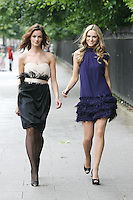 15/7/2010. COAST AUTUMN WINTER 2010 PREVIEW.  Karen wears AnnaFeather Dress EUR195 and Sarah wears an Shelby Feather Dress EUR285 at the preview of the Coast Autumn Winter 2010 collection at 15 St Stephens Green Dublin. Picture James Horan/Collins Photos