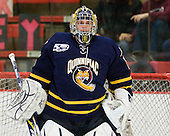 Eric Hartzell (Quinnipiac - 33) - The visiting Quinnipiac University Bobcats defeated the Harvard University Crimson 3-1 on Wednesday, December 8, 2010, at Bright Hockey Center in Cambridge, Massachusetts.