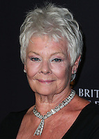 BEVERLY HILLS, CA, USA - OCTOBER 30: Judi Dench arrives at the 2014 BAFTA Los Angeles Jaguar Britannia Awards Presented By BBC America And United Airlines held at The Beverly Hilton Hotel on October 30, 2014 in Beverly Hills, California, United States. (Photo by Xavier Collin/Celebrity Monitor)