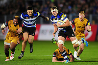 Tom Ellis of Bath Rugby takes on the Bristol Rugby defence. Aviva Premiership match, between Bath Rugby and Bristol Rugby on November 18, 2016 at the Recreation Ground in Bath, England. Photo by: Patrick Khachfe / Onside Images