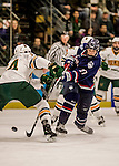20 January 2017: University of Connecticut Husky Forward Maxim Letunov, a Sophomore from Moscow, Russia, in first period action against the University of Vermont Catamounts at Gutterson Fieldhouse in Burlington, Vermont. The Huskies fell to the Catamounts 5-4 in the first game of their Home-and-Home Hockey East Series. Mandatory Credit: Ed Wolfstein Photo *** RAW (NEF) Image File Available ***
