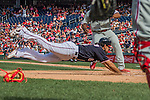 11 September 2016: Washington Nationals infielder Anthony Rendon dives home to score against the Philadelphia Phillies at Nationals Park in Washington, DC. The Nationals edged out the Phillies 3-2 to take the rubber match of their 3-game series. Mandatory Credit: Ed Wolfstein Photo *** RAW (NEF) Image File Available ***