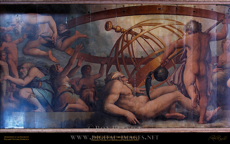 Mutilation of Uranus by Saturn Vasari Gherardi Apartment of the Elements Palazzo Vecchio Florence