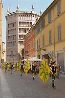 Fiesta near the Baptistry and Duomo - Piazza Del Duomo - Palma Italy.