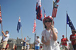 Elena Bouldin walks in the 4th of July parade in Oxford, Miss. on Monday, July 4, 2011.