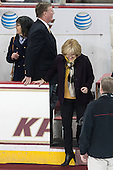 Dave Arnold, Kirk Arnold - The visiting University of Notre Dame Fighting Irish defeated the Boston College Eagles 2-1 in overtime on Saturday, March 1, 2014, at Kelley Rink in Conte Forum in Chestnut Hill, Massachusetts.