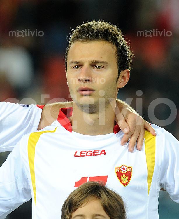 FUSSBALL INTERNATIONAL  EM 2012-Qualifikation  Gruppe G   11.10.2011 Schweiz - Montenegro Elsad ZVEROTIC (Montenegro)