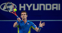 Andy Murray (GBR) against Igor Andreev (RUS) in the Group B match bewteen Great Britain and Russia. Andy Murray (GBR) beat Igor Andreev (RUS) 6-1 6-0..International Tennis - Hyundai Hopman Cup XXII - Fri 08 Jan 2010 - Burswood Dome - Perth - Australia ..© Frey - AMN Images, 1st Floor Barry House, 20-22 Worple Road, London, SW19 4DH