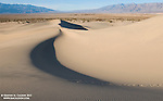 Shadows play on Mesquite Dunes, a popular hike in the Stovepipe Wells area of Death Valley National Park.