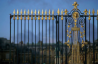 Ornate entrance gate to Versailles, Paris, France.