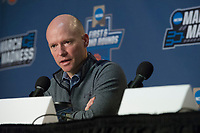 NWA Democrat-Gazette/J.T. WAMPLER Seton Hall's head coach Kevin Willard takes questions from the press Thursday Mar. 16, 2017 at the Bon Secours Wellness Arena in Greenville, South Carolina. The Hogs take on Seton Hall Friday in the first round of the NCAA Tournament.
