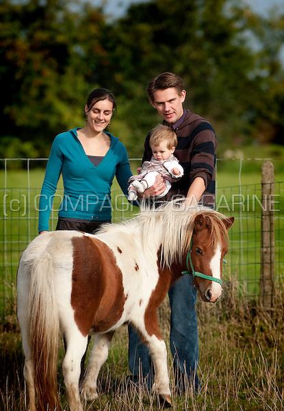 a one child family (Belgium, 19/09/2010)