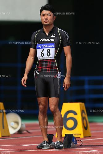 Shingo Suetsugu, <br /> SEPTEMBER 22, 2013 - Athletics : <br /> The 61st All Japan Industrial Athletics Championship <br /> Men's 100m <br /> at Kumagaya Sports Culture Park Athletics Stadium, Saitama, Japan. <br /> (Photo by YUTAKA/AFLO SPORT) [1040]
