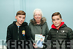"""Book Signing : Pictured at the  singing his book """" The Best of Billy Keane"""" at the Listowel Arms Hotel on Friday night last were Sean Mary & Cillian Cogan."""