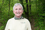 An active senior lady, volunteering at a Nature Conservancy event in Upstate, South Carolina