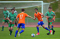 Action from the Central League football match between Wellington United and Wairarapa United at Newtown Park in Wellington, New Zealand on Saturday, 29 April 2017. Photo: Dave Lintott / lintottphoto.co.nz