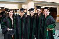 Susan Varga, left, Jenny Nguyen, mimi Ogawa, Alycia Horn, Catherine Mygatt. Class of 2012 commencement.