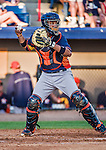 10 March 2014: Houston Astros catcher Carlos Corporan in action during a Spring Training game against the Washington Nationals at Space Coast Stadium in Viera, Florida. The Astros defeated the Nationals 7-4 in Grapefruit League play. Mandatory Credit: Ed Wolfstein Photo *** RAW (NEF) Image File Available ***