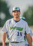 8 July 2015: Vermont Lake Monsters infielder Chris Iriart walks to the dugout prior to a game against the Mahoning Valley Scrappers at Centennial Field in Burlington, Vermont. The Lake Monsters defeated the Scrappers 9-4 to open the home game series of NY Penn League action. Mandatory Credit: Ed Wolfstein Photo *** RAW Image File Available ****